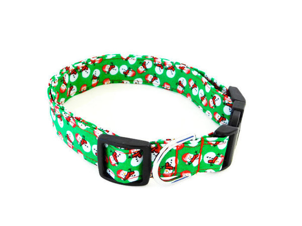 Green Snowman Collar - Charlotte's Pet