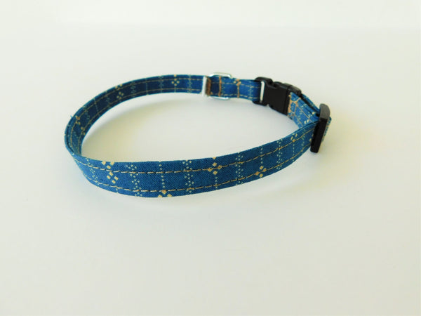Blue and Tan Line Collar - Charlotte's Pet