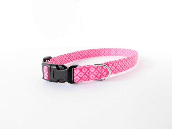 Pink Diamond Print Collar - Charlotte's Pet