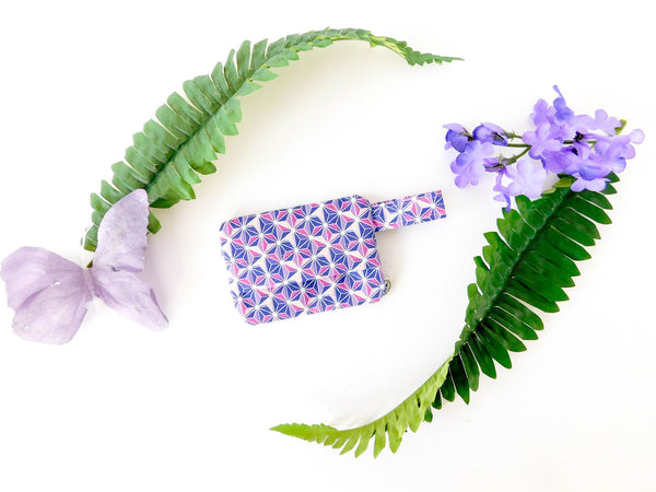 Purple Geometric Waste Bag Holder - Charlotte's Pet