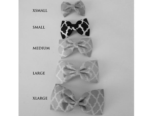 Black and Grey Houndstooth Bow Tie/Flower - Charlotte's Pet