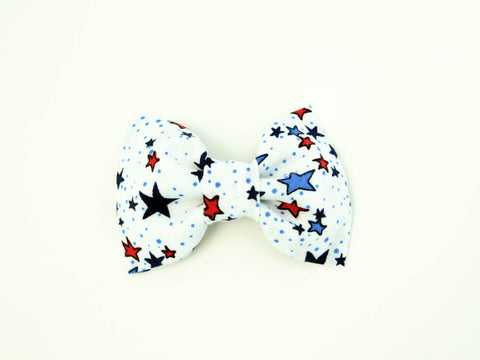White Stars Bow Tie/Flower - Charlotte's Pet