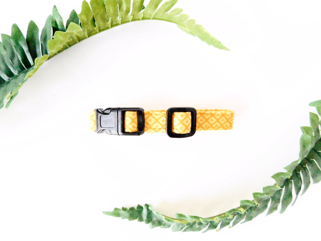 Yellow Diamond Print Collar - Charlotte's Pet