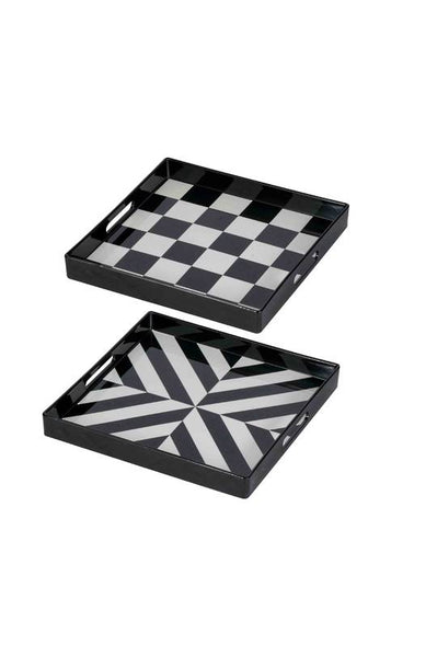 Black & White Square Trays