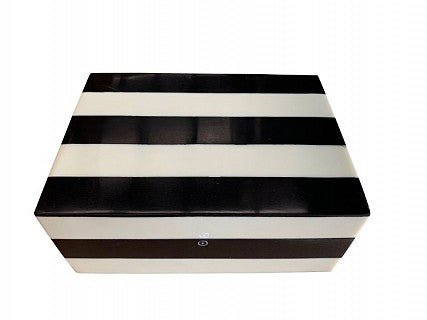 Black & White Striped Box