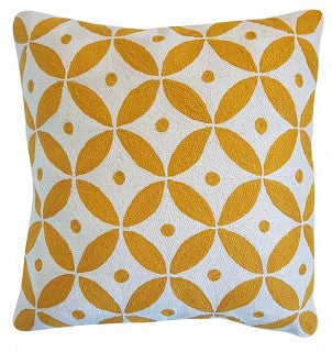 Cushion Geometric Green / White