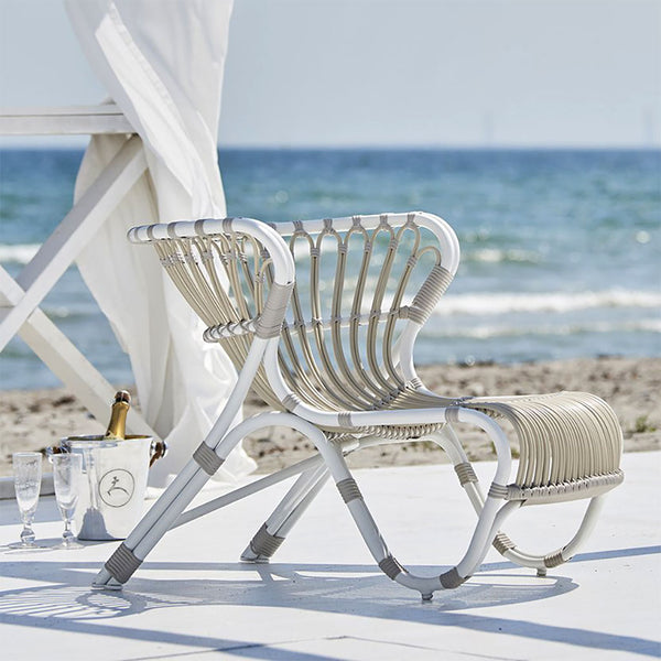 Fox Exterior Lounge Chair | Dove White