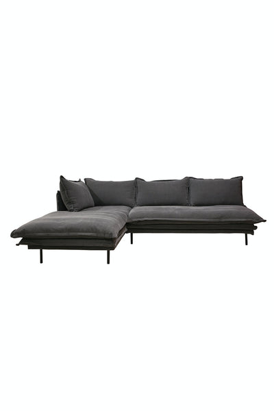 Louis Modular Sofa Left Charcoal