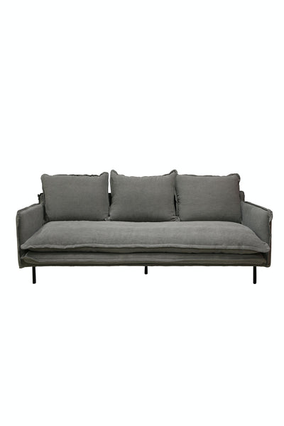 Louis 3 Seater Sofa  Grey