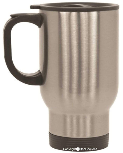 Customizable Travel Mug 14 oz Stainless Steel - Silver