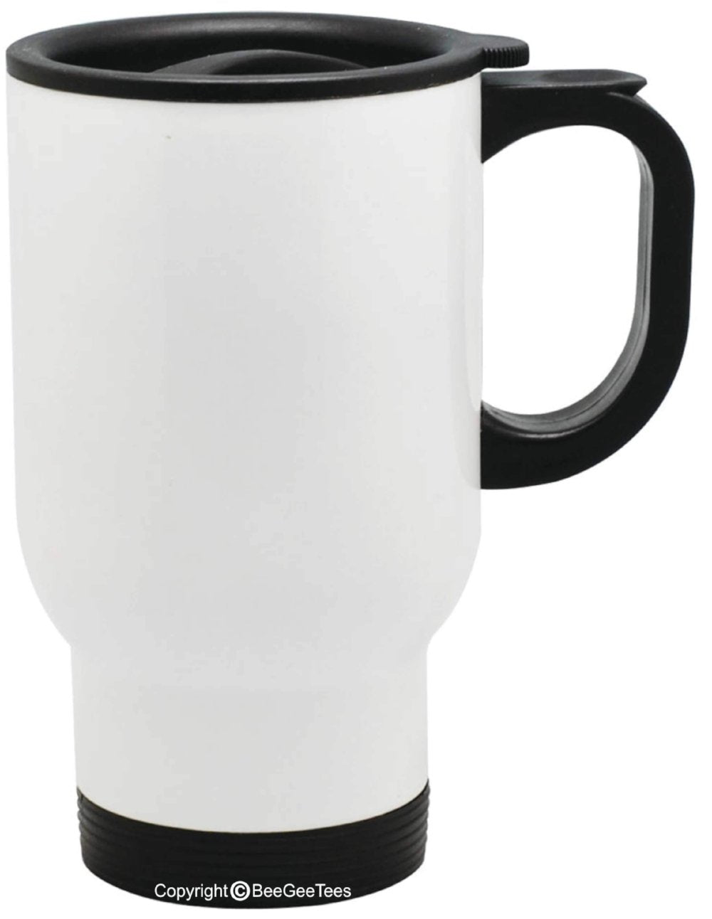 Customizable Travel Mug 14 Oz Stainless Steel White Beegeetees