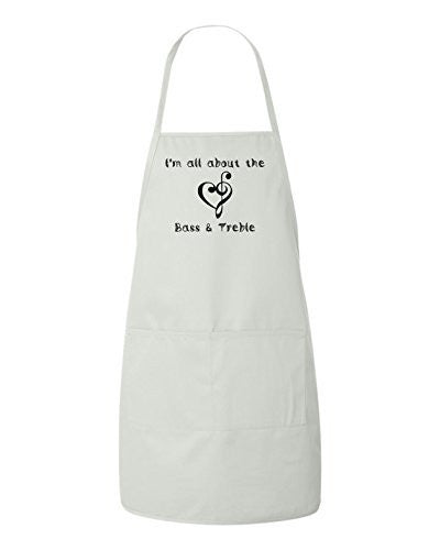 I'm All About The Bass & Treble Apron by BeeGeeTees®