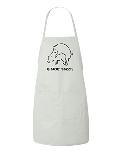 Makin' Bacon Valentines Day Gift Apron by BeeGeeTees