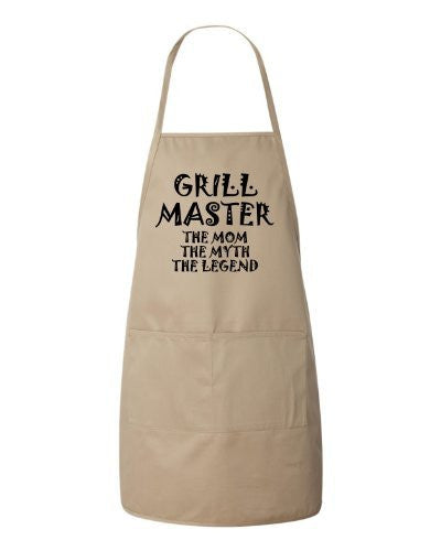Grill Master The Mom The Myth The Legend Mothers Day Gift Apron by BeeGeeTees®
