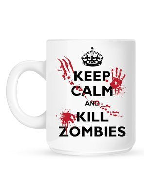 Keep Calm & Kill Zombies - Coffee or Tea Mug 11 oz Cup by BeeGeeTees 00346