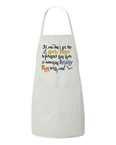 If You Don't Get My Harry Potter References Then There Is Something Siriusly Ron With You Funny BBQ Apron by BeeGeeTees