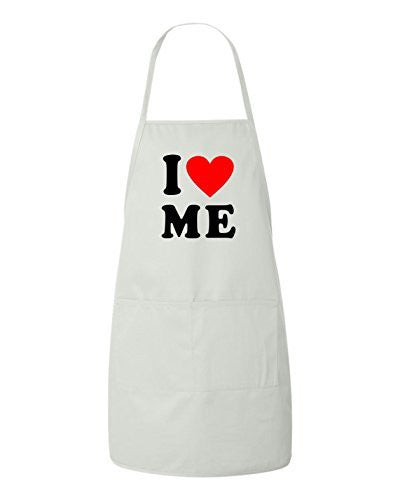 I Love Me Heart Valentines Day Gift Apron by BeeGeeTees