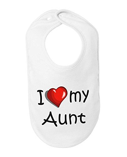 I Love My Aunt Cute Baby Bib by BeeGeeTees®