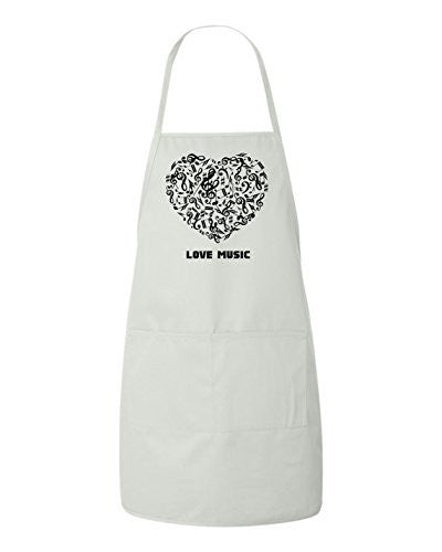 Love Music Heart Apron by BeeGeeTees®