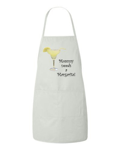 Mommy Needs A Margarita! - Mothers Day Apron by BeeGeeTees