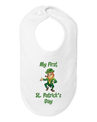 My First St Patrick's Day Bib Funny Leprechan Baby Shower Gift by BeeGeeTees®