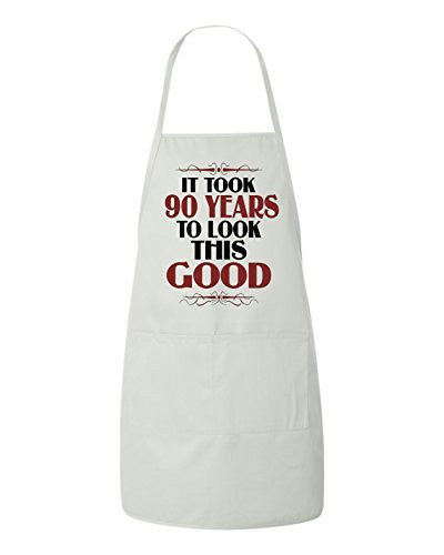It Took 90 Years To Look This Good Birthday Apron by BeeGeeTees