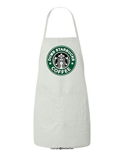 Nathan For You Dumb Starbucks Coffee Funny BBQ Kitchen Apron by BeeGeeTees®