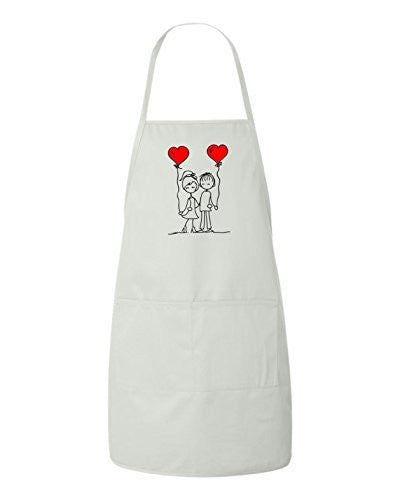Friends In Love Valentines Day Gift Apron by BeeGeeTees