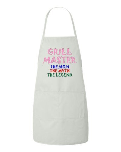 Grill Master - The Mom The Myth The Legend Apron by BeeGeeTees