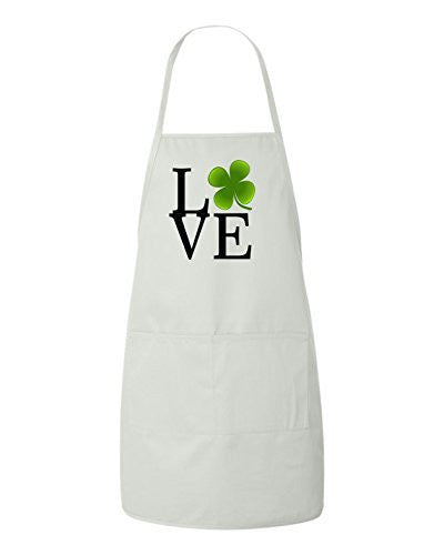 Love Clover St Patrick's Day Irish Leprechaun Apron by BeeGeeTees®