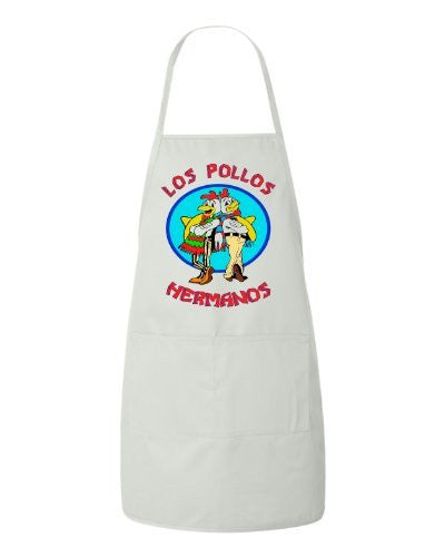 Los Pollos Hermanos Breaking Bad Funny BBQ Apron by BeeGeeTees