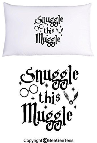 Snuggle This Muggle Harry Potter Funny Pillowcase by BeeGeeTees® (1 Queen Pillowcase)