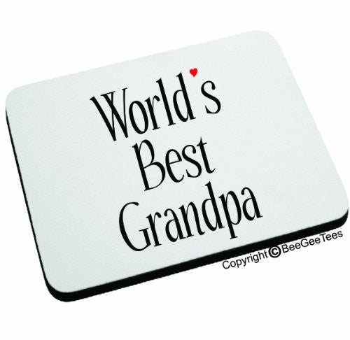 WORLD'S BEST GRANDPA Mouse Pad by BeeGeeTees