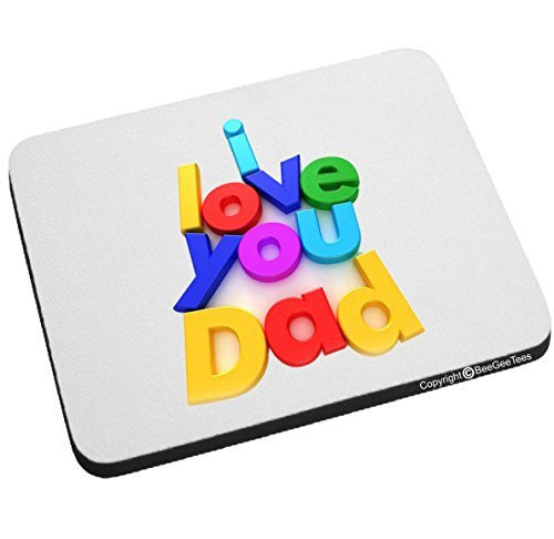 I Love You Dad Super Hero Mouse Pad Happy Fathers Day by BeeGeeTees