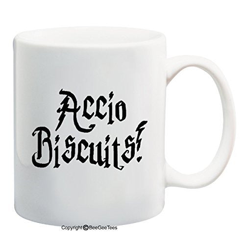 Accio Biscuits Harry Potter Funny Coffee Mug Office Tea Cup by BeeGeeTees®