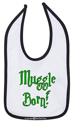 Muggle Born Bib Funny Baby Shower Gift by BeeGeeTees 02284-BIB