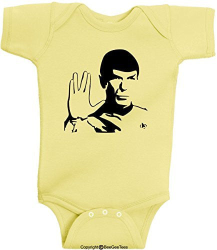 Spock Live Long And Prosper Leonard Nimoy Soft Onesie Bodysuit by BeeGeeTees®