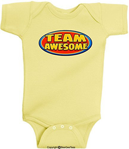 The Awesome Baby Series Funny Onesie Romper Bodysuit by BeeGeeTees® (Unisex-Baby)
