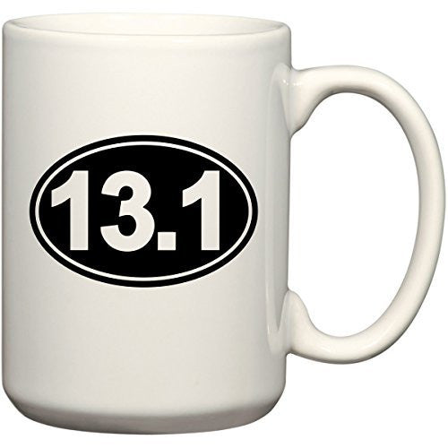 13.1 Half Marathon Coffee Mug Office Tea Cup by BeeGeeTees