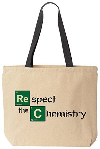 Respect the Chemistry - Jesse Breaking Bad Tote by BeeGeeTees