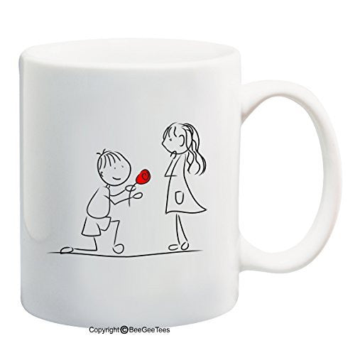 """Marry Me?"" Coffee Mug Valentines Day Gift or Wedding Day Gift by BeeGeeTees®"