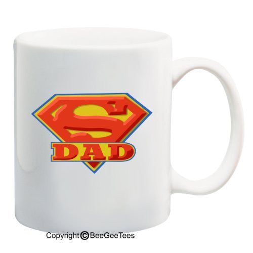 SUPER DAD - 11 oz Mug - Happy Fathers Day by BeeGeeTees 01150