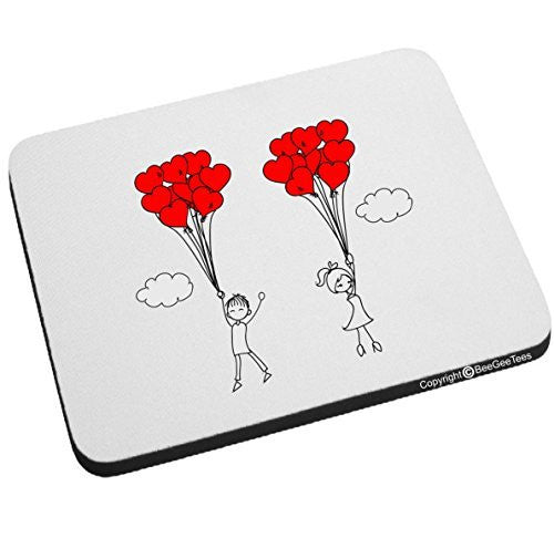 Up Up And Away In Love Mouse Pad Valentines Day Birthday Gift by BeeGeeTees