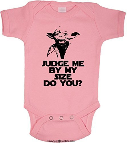 Judge Me By My Size Do You Funny Star Wars Onesie Yoda by BeeGeeTees® (Unisex-Baby)