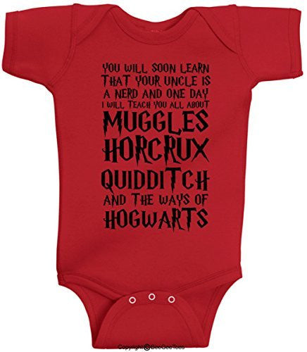 You Will Soon Learn That Your Uncle Is A Nerd Harry Potter Onesie by BeeGeeTees®