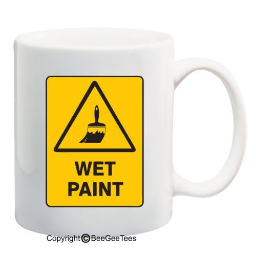 Wet Paint - 11 oz Mug by BeeGeeTees 08841