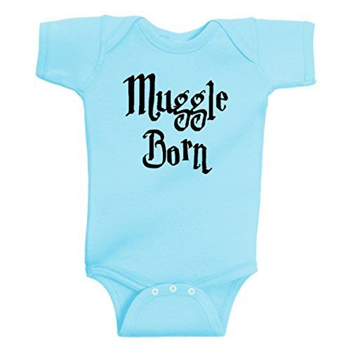MUGGLE BORN Funny Wizard Onesie Aqua by BeeGeeTees®
