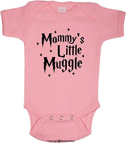 Mommy's Little Muggle Cute Harry Potter Baby Romper Wizard Onesie by BeeGeeTees®