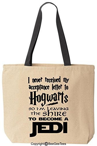 I Never Received My Acceptance Letter To Hogwarts Funny Harry Potter Canvas Tote Bag by BeeGeeTees®