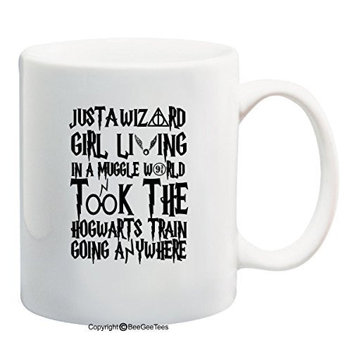 Just A Wizard Girl Harry Potter Funny Coffee Mug Office Tea Cup by BeeGeeTees®